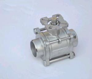 China válvula de bola 3PC com a almofada de montagem ISO5211 on sale