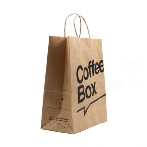 China Brown Kraft Personalized Paper Shopping Bags Custom Printed Paper Grocery Bags on sale