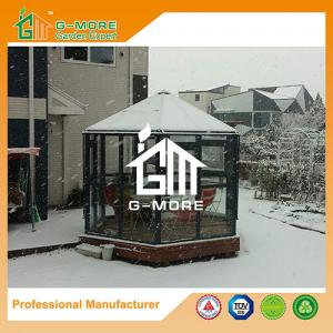 China Aluminum Greenhouse-Hexagon Series-320 X 283 X 275CM-Dark Grey Color- PC or Glass on sale
