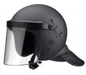 China Matte Black ABS Shell PC Visor High Quality Full Face Police Anti Riot Helmet on sale