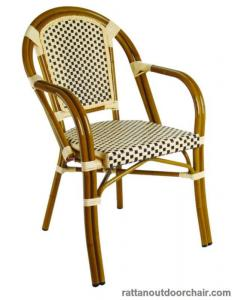 China LJC034  french bistro outdoor furniture bamboo look rattan chair on sale