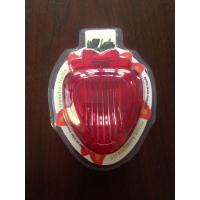 China Plastic Strawberry Slicer Cutter With Stainless Steel Blades on sale