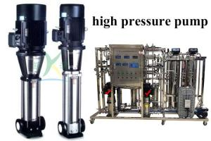 China High Pressure Pure Water Pump Reverse Osmosis System With SS304/SS316 Material on sale