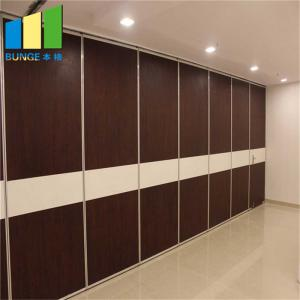 China Aluminum Profile Collapsible Folding Manual Movable Sliding Partition Walls For Hotel on sale