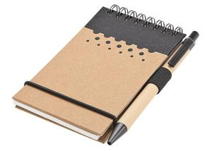 China Reycled A5 Jotter Spiral Notebook with a Pen on sale