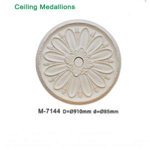 China Wooden replacement ceiling rose Artistic Ceiling decorative PU ceiling medallions wholesale on sale