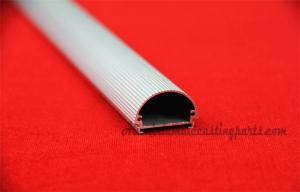 China Le long argent anodisent l'alliage d'aluminium a expulsé des profils de tube fluorescent de LED pour la lumière du jour et la lampe de lumière du soleil on sale