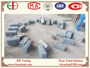 China Cr15Mo3 High Cr White Iron Castings Chute Liners EB11003 on sale