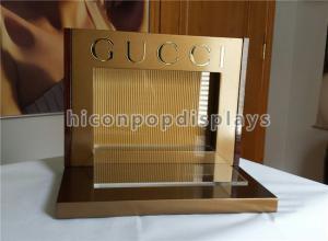 China Acrylic Metal Counter Display Racks Brand Name Optical Display Stand For Gucci Eyewear on sale