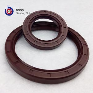 China Brown color FKM FPM metal framework double lip oil seal TC profile on sale