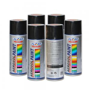 China Low Chemical Odor Acrylic Spray Paint Black Silicone Resin Non Toxic Heat Resistant on sale