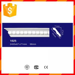 China Durable fireproof decorative PU ceiling cornice moulding for interior decoration on sale