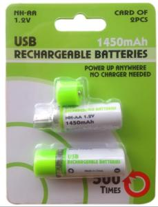 China AA USB Rechargeable Battery,USB battery,usb cell,Rechargeable USB Battery on sale