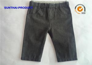 China Faux Denim Baby Jogging Bottoms 100% Cotton Double Layers Infant Boy Pants on sale