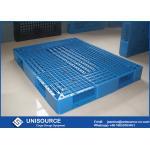 鋼鉄管のプラスチック スキッド パレットは悩ますことのための直面されたリサイクルされたプラスチック パレットを選抜します