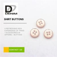 Pink Pearl Unique Shirt Buttons 4 Holes High Temperature Resistance