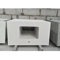 Pure White Quartz Stone Countertop 2.6g/cu.cm Density 52.7MPa Flexural Strength