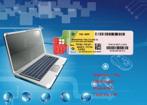 China 100% Original Operating System Microsoft Win 7 Pro Software COA Sticker 64bit Online Activate on sale