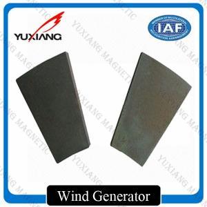 China High Performance Neodymium Permanent Magnets Arc NdFeB For Wind Generator on sale