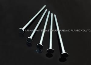 China 4.0 X 90 MM Galvanized Clout Nails , Sharp Point Broad Head Nails Corrosion Resistance on sale