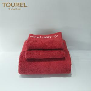 China Red Color Hotel Bath Towel 100% Cotton Turkish Hot selling in UK on sale