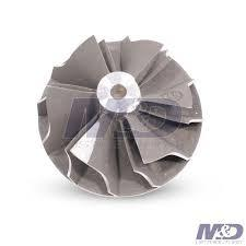 China Eliminated Surging Turbo Compressor Wheel 9 Bladed Extended Tip Reduces Visible Emissions on sale