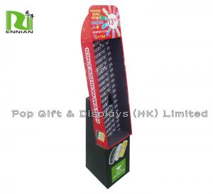China Watch Promotional Corrugated Cardboard Display Rack With Peg Hooks on sale