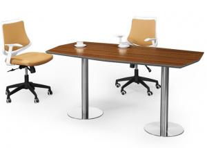 China Cosy MFC Office Furniture Wooden Talking Table With Metal Mobile Pedestal on sale