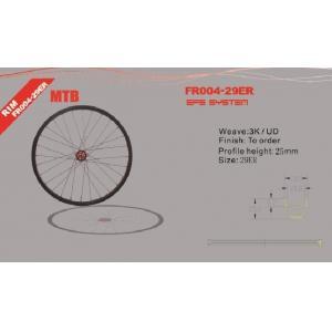 Quality 29er Monocoque Carbon Bike Wheelset  , Novatec D711 hub Clincher Carbon MTB Wheelset for sale