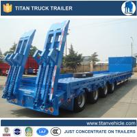 100 Ton 4 Axles lowboy semi trailers with sidewall for Maurituis