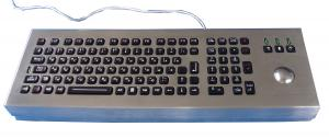China IP65 dynamic backlight vandal proof military keyboard with trackball on sale