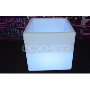 China Waterproof illuminated planter pots , led  flower pot cube for party  / home decoration on sale
