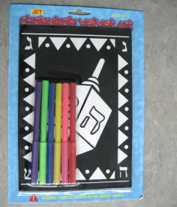 China Chanukah velvet art with markers on sale