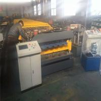 Metal Corrugated And Trapezoid Roofing Sheet Roll Forming Machine , Roofing Tile Roll Forming Equipment