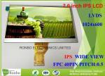LVDS 40 Pin Lcd Display Screen , 1024 X 600 7.0 Inch IPS LCD Module Replace N070LGE - L41