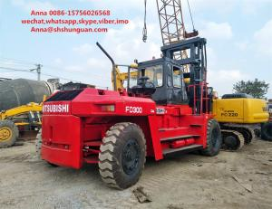 China Flexible Used Industrial Forklift , Mitsubishi 6D24 Used Counterbalance Forklift on sale