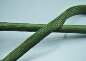 China Custom Length Expandable Braided Sleeving Nylon Flat Filament For Cable Protection on sale