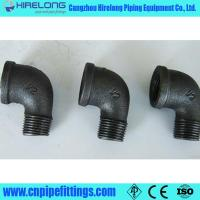 China Dimemsion ISO49 Black malleable iron pipe fittings on sale