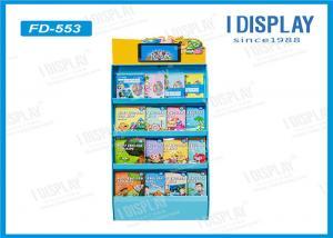 China Supermarket Pop Corrugated Cardboard Displays , Cardboard Book Display Stand on sale