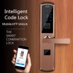 Straight Board Intelligent Fingerprint Code Lock APP Controlled For Universal Door