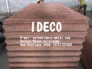 China Copper Washed Standard Industrial Steel Mesh, Welded Copper Mesh Panels/Screen/Cages/Baskets on sale