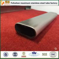 China Flat Stainless Steel Oval Tube Specialty Tubing For Handrailing Used on sale
