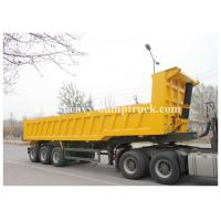 China HYVA hydraulic cylinder three axles 50 Tons Semi Trailer Truck for Gravel Mulch Fill Dirt on sale