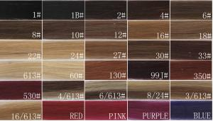 China 100 Real Human Hair Extension Color Chart , Weave Hair Color Chart on sale