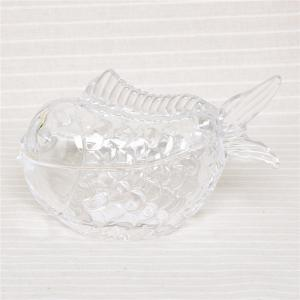China Hand made art galss collecting glass fish jar candy storage fish jar best selling on sale
