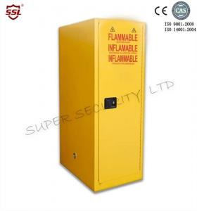 China Dualvents  Steel Slimline Chemical Oil Storage Cabinet Painted Lockable With Leak Proof Sump on sale