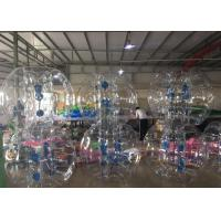 China Heat Seal Human Soccer Ball Bubble , Soccer Bouncy Balls With Reinforced Straps on sale