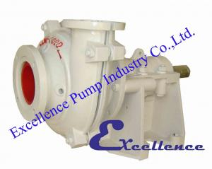 China Good performance centrifugal slurry pumps EHM with wear-resistant metal liners on sale