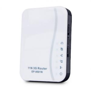China 2.4GHz 128-bit WEP portable 3g wifi router for Enterprise with 4-Port Switch on sale
