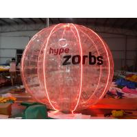 Red Shinning 1.0MM PVC / TPU Inflatable Bubble Ball With LED Light N Logo
